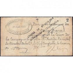 Algérie - Béni-Saf 13 - 2 francs - 25/08/1915 - Etat : TB+