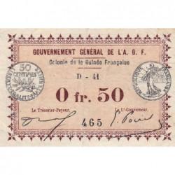 Guinée - Pick 1d_1 - 50 centimes - 11/02/1917 - Etat : TB+
