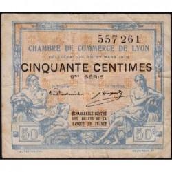 Lyon - Pirot 77-16 - 50 centimes - 9me série - 27/03/1918 - Etat : TB