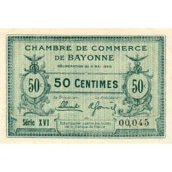 Bayonne - Pirot 21-66 - 50 centimes - 1920 - Etat : SPL