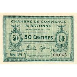 Bayonne - Pirot 21-66 - 50 centimes - Série XVI (16) - 05/05/1920 - Etat : SPL