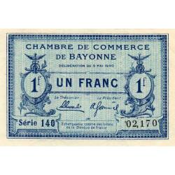 Bayonne - Pirot 21-67 - 1 franc - 1920 - Etat : SPL