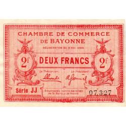 Bayonne - Pirot 21-68 - 2 francs - Etat : SUP