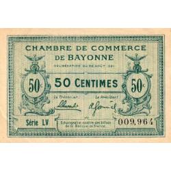 Bayonne - Pirot 21-69 - 50 centimes - Série LV (55) - 26/08/1921 - Etat : SUP+