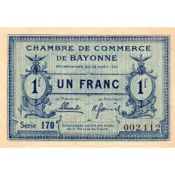 Bayonne - Pirot 21-70 - 1 franc - 1921 - Etat : SUP+
