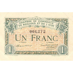 Beauvais - Pirot 22-2 - 1 franc - 02/06/1920 - Etat : SUP