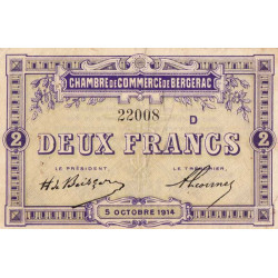 Bergerac - Pirot 24-21 - 2 francs