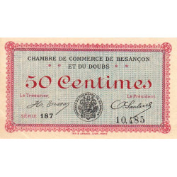 Besançon (Doubs) - Pirot 25-7b - 50 centimes - Etat : SPL