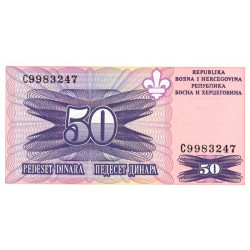 Bosnie Herzegovine - Pick 47 - 50 dinara - 1994 - Etat : NEUF