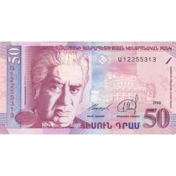 Arménie - Pick 41 - 50 dram - 1998 - Etat : NEUF