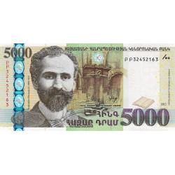 Arménie - Pick 56 - 5'000 dram - 2012 - Etat : NEUF