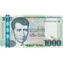 Arménie - Pick non référencé - 1'000 dram - 2015 - Etat : NEUF