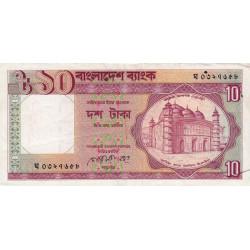 Bangladesh - Pick 26a - 10 taka - 1990 - Etat : TTB