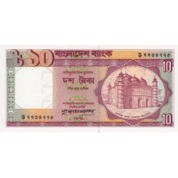 Bangladesh - Pick 26c3 - 10 taka - 1993 - Etat : SUP