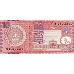 Bangladesh - Pick 39d - 10 taka - 2005 - Etat : NEUF
