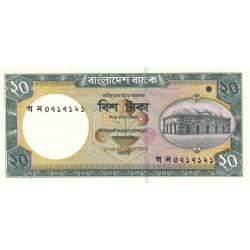 Bangladesh - Pick 40a - 20 taka - 2002 - Etat : NEUF