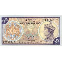 Bhoutan - Pick 15b - 10 ngultrum - 1989 - Etat : NEUF
