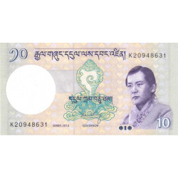 Bhoutan - Pick 29b - 10 ngultrum - 2013 - Etat : NEUF