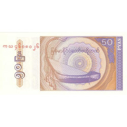 Myanmar - Pick 68 - 50 pyas - Etat : NEUF