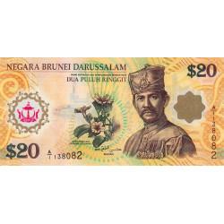Brunei - Pick 34a - 20 dollars - 2007 - Polymère commémoratif - Etat : NEUF