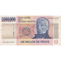Argentine - Pick 310_3 - 1'000'000 pesos - Série A - 1983 - Etat : TB+ à TTB