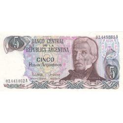 Argentine - Pick 312_1 - 5 pesos argentinos - Série A - 1983 - Etat : NEUF