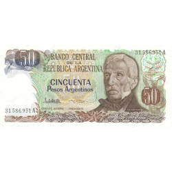 Argentine - Pick 314_2 - 50 pesos argentinos - Série A - 1983 - Etat : NEUF