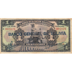 Bolivie - Pick 112_1 - 1 boliviano