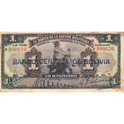 Bolivie - Pick 112_1 - 1 boliviano - 1929 - Etat : TB