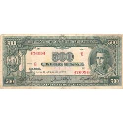 Bolivie - Pick 143_2 - 500 bolivianos - Loi 1945 - Etat : B+