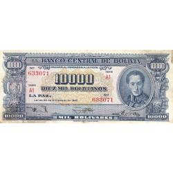 Bolivie - Pick 151_6 - 10'000 bolivianos - Loi 1945 - Etat : B+