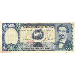 Bolivie - Pick 165a_1 - 500 pesos bolivianos