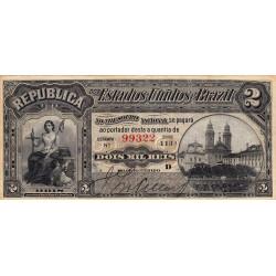 Brésil - Pick 10b - 2'000 reis - 1890 - Etat : TTB+