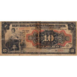 Brésil - Pick 34 - 10'000 reis - 1912 - Etat : B-