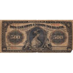 Brésil - Pick 87 - 500'000 reis - 1911 - Etat : B