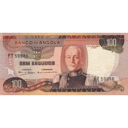 Angola - Pick 101 - 100 escudos - 1972 - Etat : TTB
