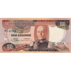 Angola - Pick 101 - 100 escudos - 1972 - Etat : SUP