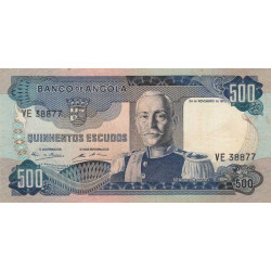 Angola - Pick 102 - 500 escudos - 1972 - Etat : TTB