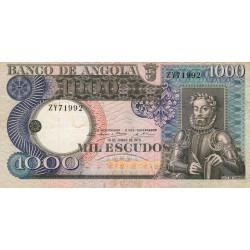 Angola - Pick 108 - 1'000 escudos - 1973 - Etat : TTB