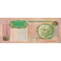 Angola - Pick 132 - 50'000 kwanzas - 1991 - Etat : TB