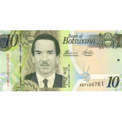 Botswana - Pick 30b - 10 pula - 2010 - Etat : NEUF