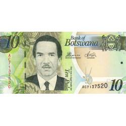Botswana - Pick 30c - 10 pula - 2012 - Etat : NEUF