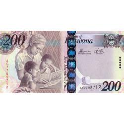 Botswana - Pick 34c - 200 pula - 2012 - Etat : NEUF