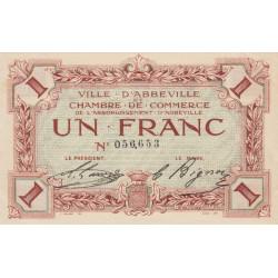 Abbeville - Pirot 1-3a - 1 franc - Sans date - Etat : SPL