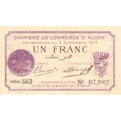 Algérie - Alger 137-01 - 1 franc - Etat : SPL