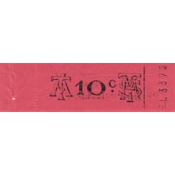 Algérie - Alger 19 - Tramways - 10 centimes - Etat : SUP