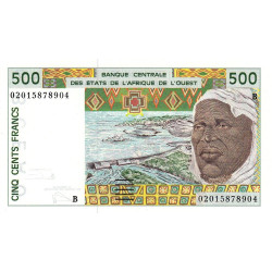 Bénin - Pick 210Bn - 500 francs - 2002