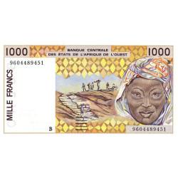 Bénin - Pick 211Bg - 1'000 francs - 1996