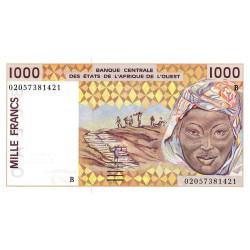 Bénin - Pick 211Bm - 1'000 francs - 2002 - Etat : NEUF