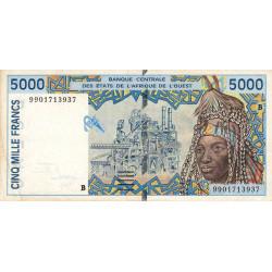 Bénin - Pick 213Bi - 5'000 francs - 1999 - Etat : TTB-